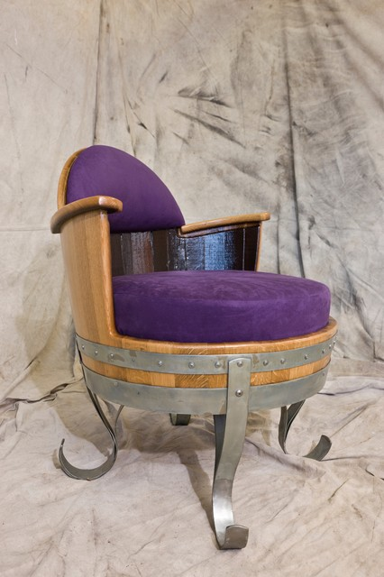 Wine Barrel Table & 4 Chairs Set chairs