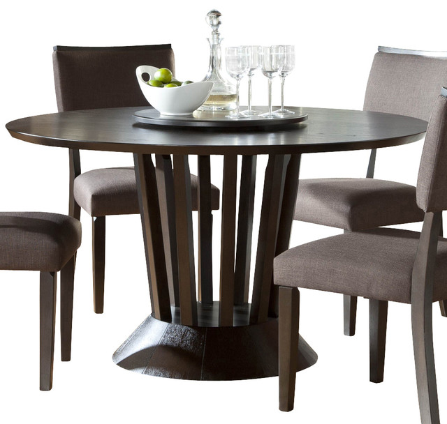 Homelegance Lobelia Round Pedestal Dining Table With Lazy