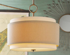 Double Drum Pendant - Large lamp-shades