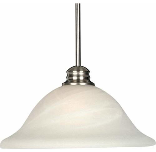 Satin Nickel Dome Pendant modern-pendant-lighting