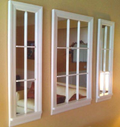 9 Lite White Mirror Windows contemporary-artwork