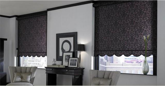 Roller Shades- Living Room roller-blinds