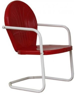 retro metal lawn chair traditional outdoor lounge