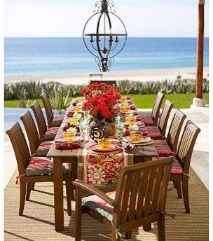 Chatham Rectangular Butterfly Extension Table & Stacking Armchair Set traditional-dining-tables