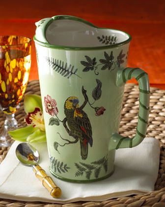 Lynn Chase Designs Parrotdise Pitcher traditional-platters