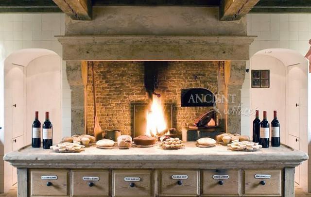 Kitchen Hoods Carved in Mediterranean Limestone mediterranean-range-hoods-and-vents