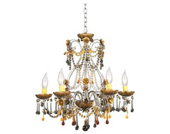 Crystal Autumn Mist Six Light Crystal Chandelier traditional chandeliers