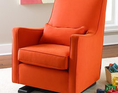 Orange Luca Glider And Ottoman contemporary rocking chairs