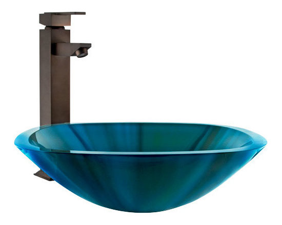 Color! - Brighten your bathroom with this vibrant glass vessel sink. It features a square shape with beautiful shades of turquoise. Made of durable tempered glass. Pair your sink with a wall mount or deck mount faucet to complete this unique look.