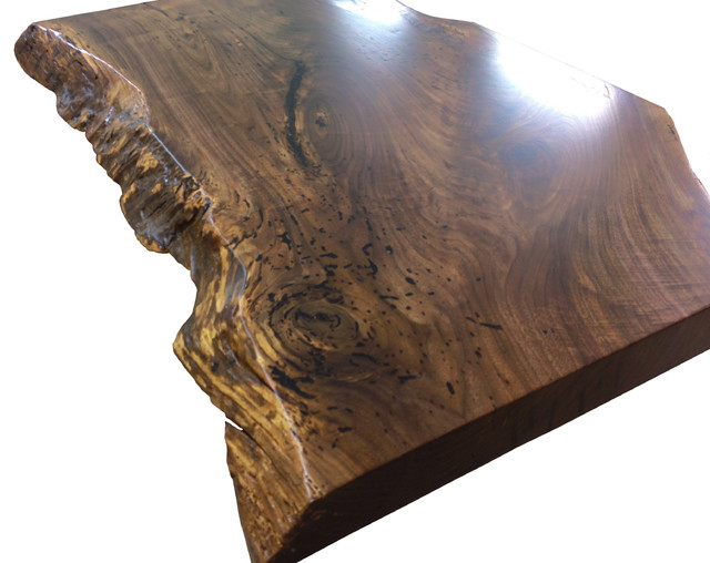 Live Edge Wood Countertop By Grothouse Kitchen