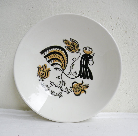 Little Vintage Rooster Dish By Mothrasue Dinner Plates & Rooster Dinnerware - Castrophotos