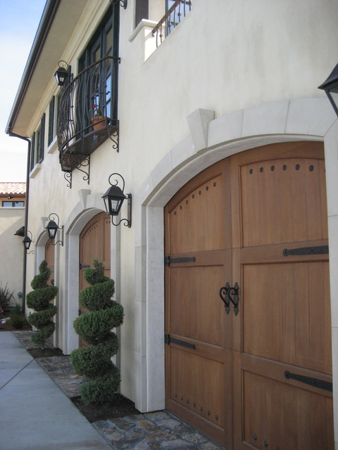 Mediterranean Garage With Babin Ironworks Custom Wrought: Garage And Shed