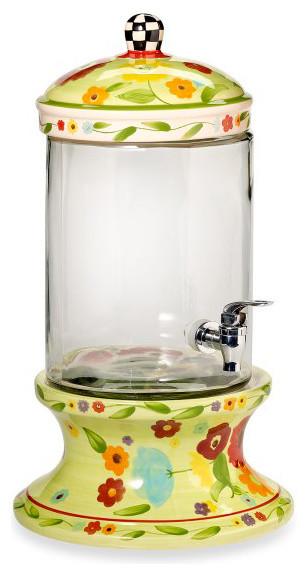 Home Essentials Floral Chintz 1-1/2-gallon Beverage Dispenser contemporary-beverage-dispensers