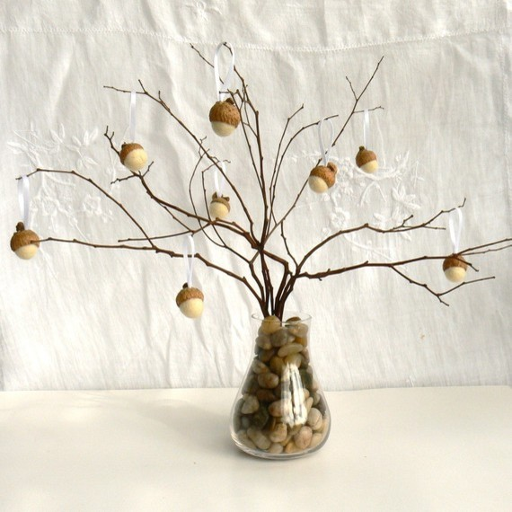 Felted Acorns by Fairyfolk eclectic holiday decorations