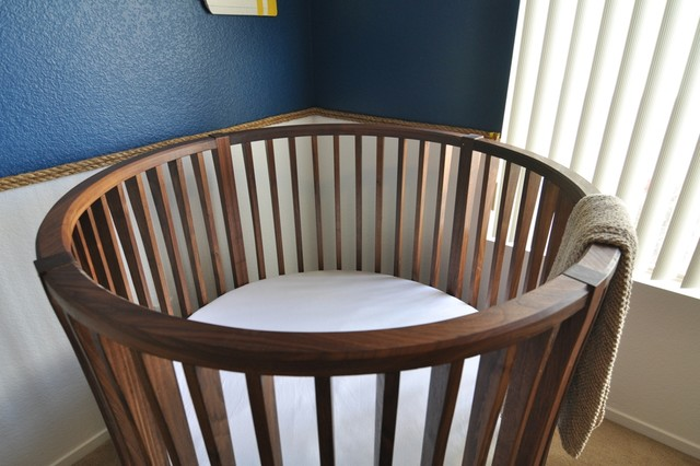Round Baby Crib - Modern - Cribs - other metro - by HAUS OF REED ...