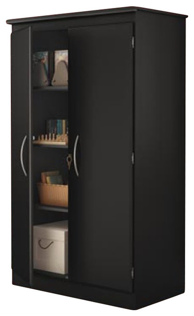 Pantry Cabinet Black Pantry Storage Cabinet with Oak Pantry