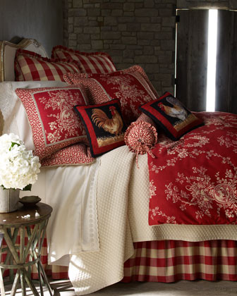 French Country Bed Linens Houndstooth Quilt Sets Ruffled