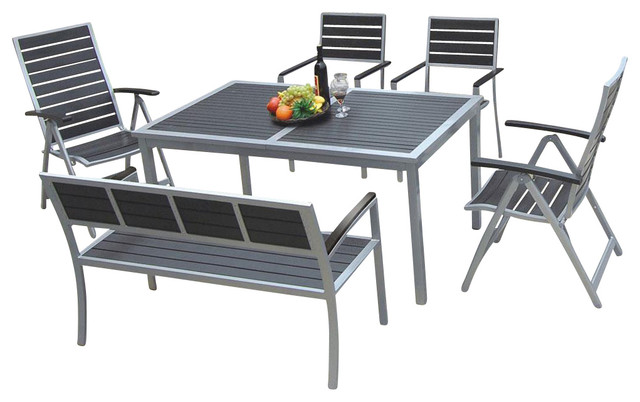 Kontiki Dining Sets posite Medium Ideal for 6 Seats Table with Chairs