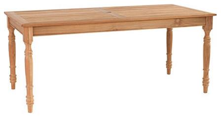 Ceylon Teak Dining Table - Rectangular farmhouse-dining-tables