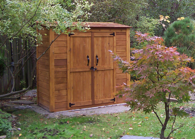 Grand garden chalet 6x3 cedar garden shed contemporary for Outdoor garden shed