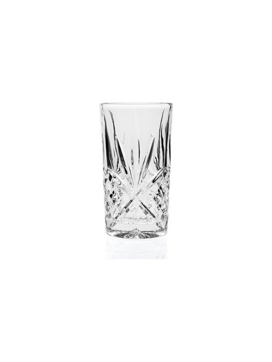 Grandin Road - Set of 12 Dublin Highball Glasses - Traditional glassware inspired by classic Irish cut crystal. Creates a glimmering effect on your holiday (or everyday) table. 24% lead crystal gives glasses heft and durability. Available in four fashionable styles. View care instructions. Set a magnificent table with brilliantly etched Dublin Crystal Glassware. Each highball, goblet, double old-fashioned, and beverage glass is handcrafted using centuries-old techniques – each style is sold separately, in a set of 12.. . . .  . .