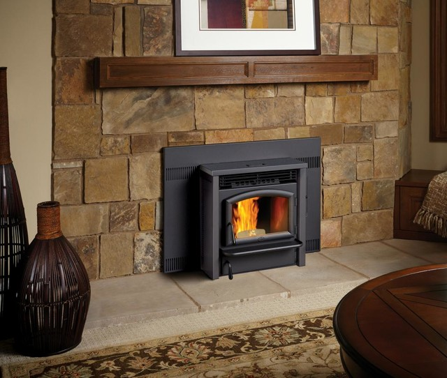 Lopi AGP Pellet Insert Transitional Indoor Fireplaces Seattle By Trav