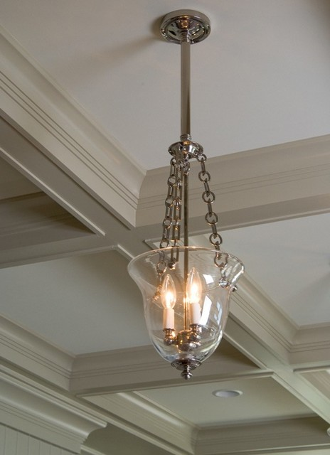 Bell Jar Light Fixture Close Up - traditional - ceiling lighting