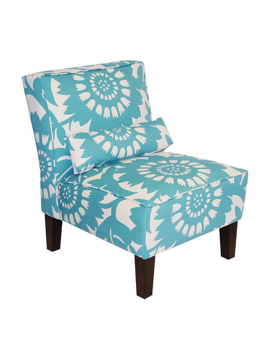 Gerber Surf Upholstered Armless Accent Chair -