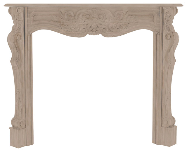 """The Deauville Fireplace Surround, Unfinished, 58"""" traditional-fireplace-mantels"""