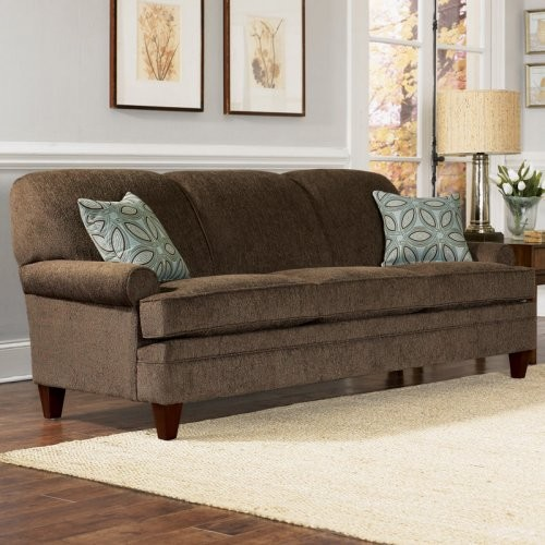 Merveilleux Charles Schneider Elma Brown Fabric Sofa With Accent