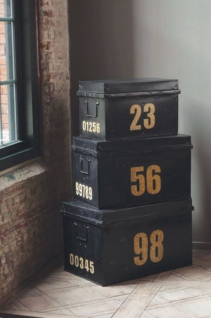 Metal Stacking Trunks  accessories and decor