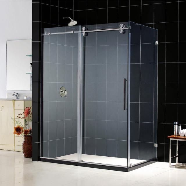 Dreamline enigma fully frameless sliding for Fully enclosed shower