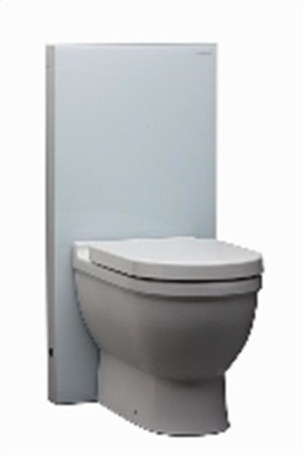 Geberit 131.144.SF.1 Monolith White w/ Duravit Starck 3 and Seat/Lid modern-bath-products