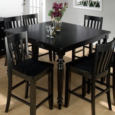 Jofran New Barn Black Counter Height Table And 6 Chairs Modern Dining Tab