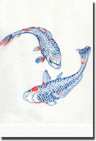 Koi Guest Towel asian-towels