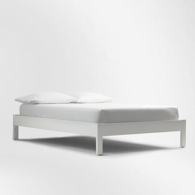 Simple Bed Frame White Modern Beds By West Elm