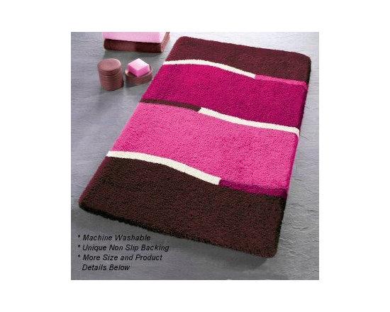 Laguna Contemporary Bath Rugs from Vita Futura - Our Laguna bath rug features a contemporary, monochromatic wave design.