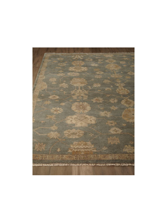 "Safavieh - Safavieh ""Melbourne"" Rug - Muted tones and a traditional pattern make this rug a classic choice for pulling a room together. Hand-knotted wool pile. Sizes are approximate. Imported. See our Rug Guide for tips on how to measure for a rug, choosing weaves and patterns, and...."