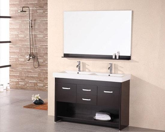 """Citrus 48"""" Double Sink Vanity Set - http://www.furnishedup.com/"""