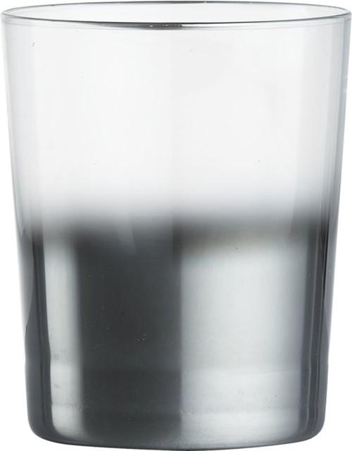 Metallic Double Old-Fashioned Glass contemporary-wine-glasses