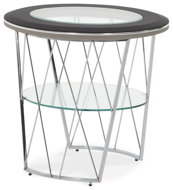 AICO Beverly Blvd Round End Table contemporary-side-tables-and-end-tables
