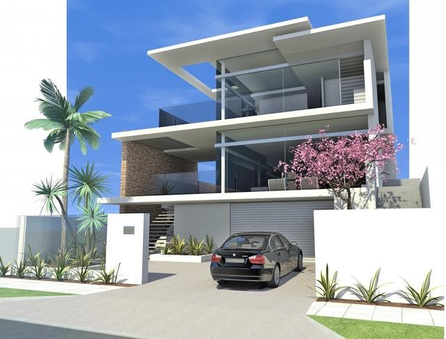 West Coast Drive House modern-rendering