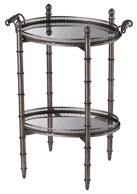 Sterling Industries 6043716 Tyrella Silver Tray Table contemporary-side-tables-and-end-tables
