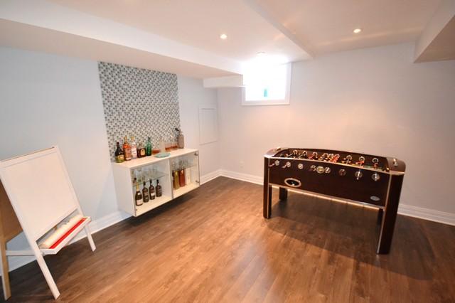 basement living room contemporary basement