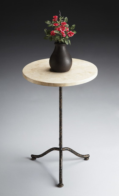 Butler Furniture Metalworks Pedestal Table - 6068025 traditional-side-tables-and-end-tables