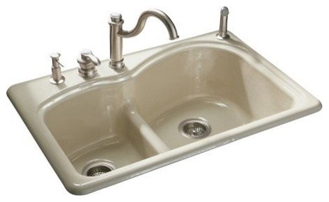 Woodfield Smart Divide Self-Rimming Kitchen Sink modern-bath-products