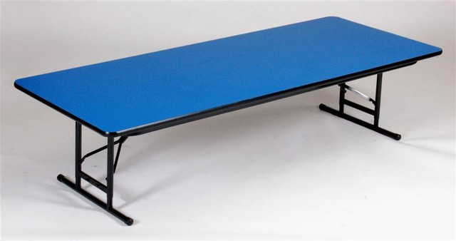 Short Adjustable Height Folding Table (24 in. - Contemporary - Folding ...