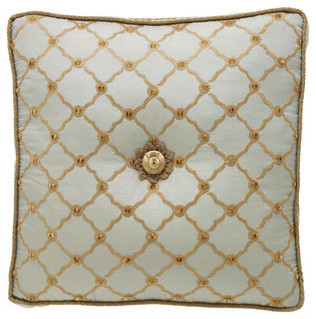 Dian Austin Couture Home Square Tufted Trellis Pillow traditional-decorative-pillows