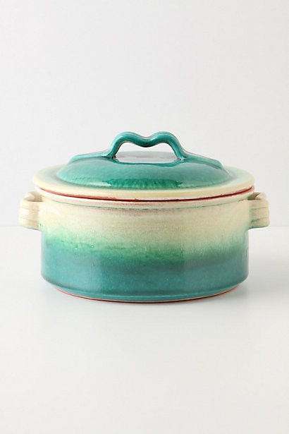 Emerald Ombre Covered Dish contemporary-specialty-cookware