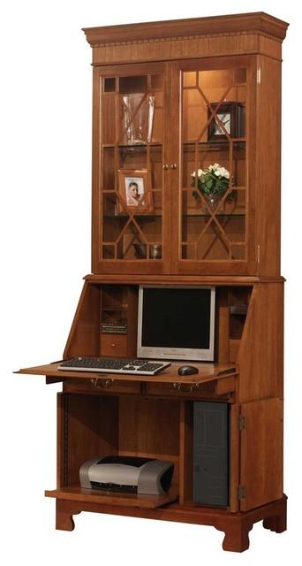 Computer Secretary Desk with Hutch (French bl contemporary-desks-and-hutches